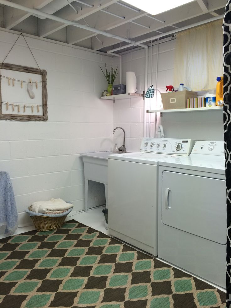 Unfinished basement laundry room ideas october 2017 for How to add a laundry room to your house