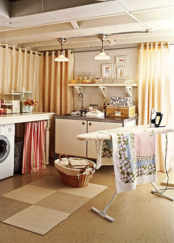 Unfinished Basement Laundry Room Ideas September 2019