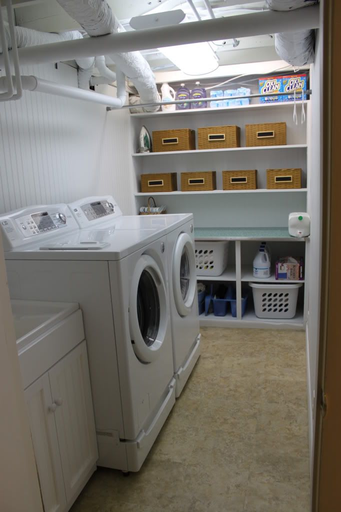 Unfinished Basement Laundry Room Ideas September 2018