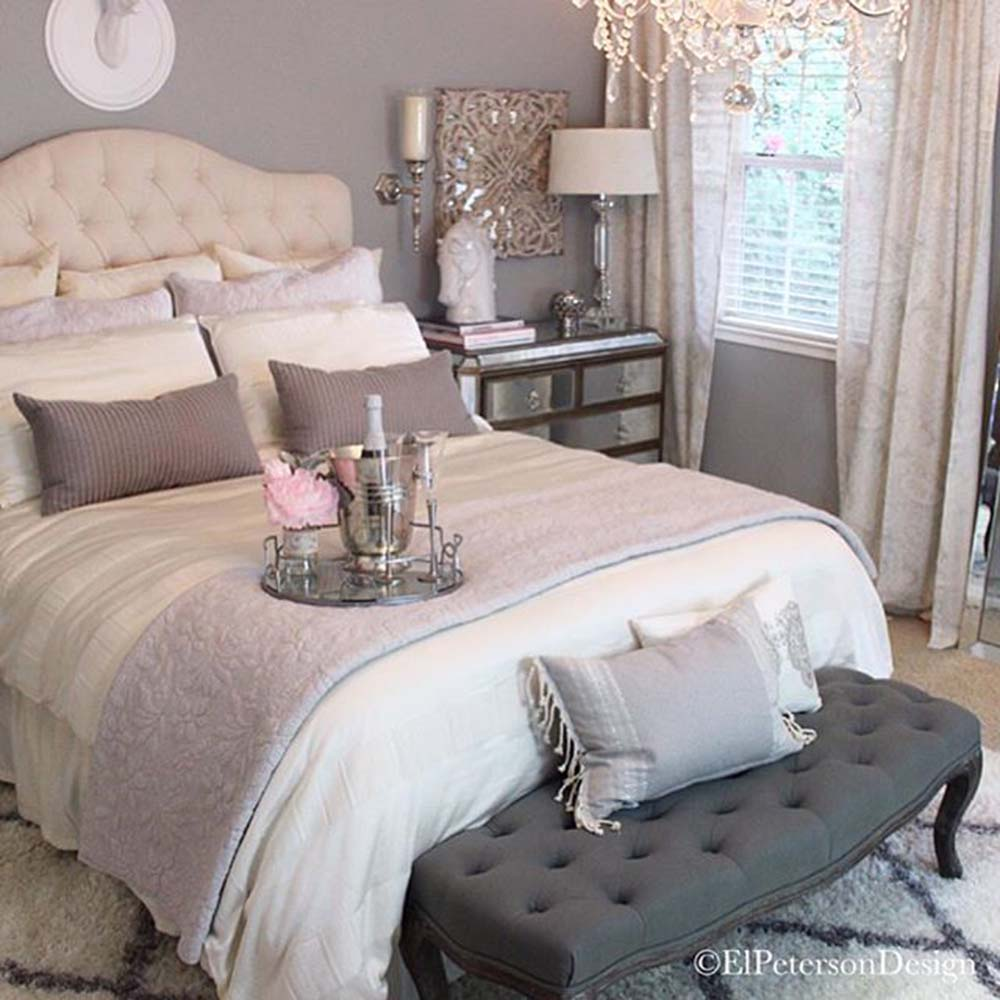 Simplistic Grey Master Bedroom: 7 Romantic Bedroom Ideas October 2018
