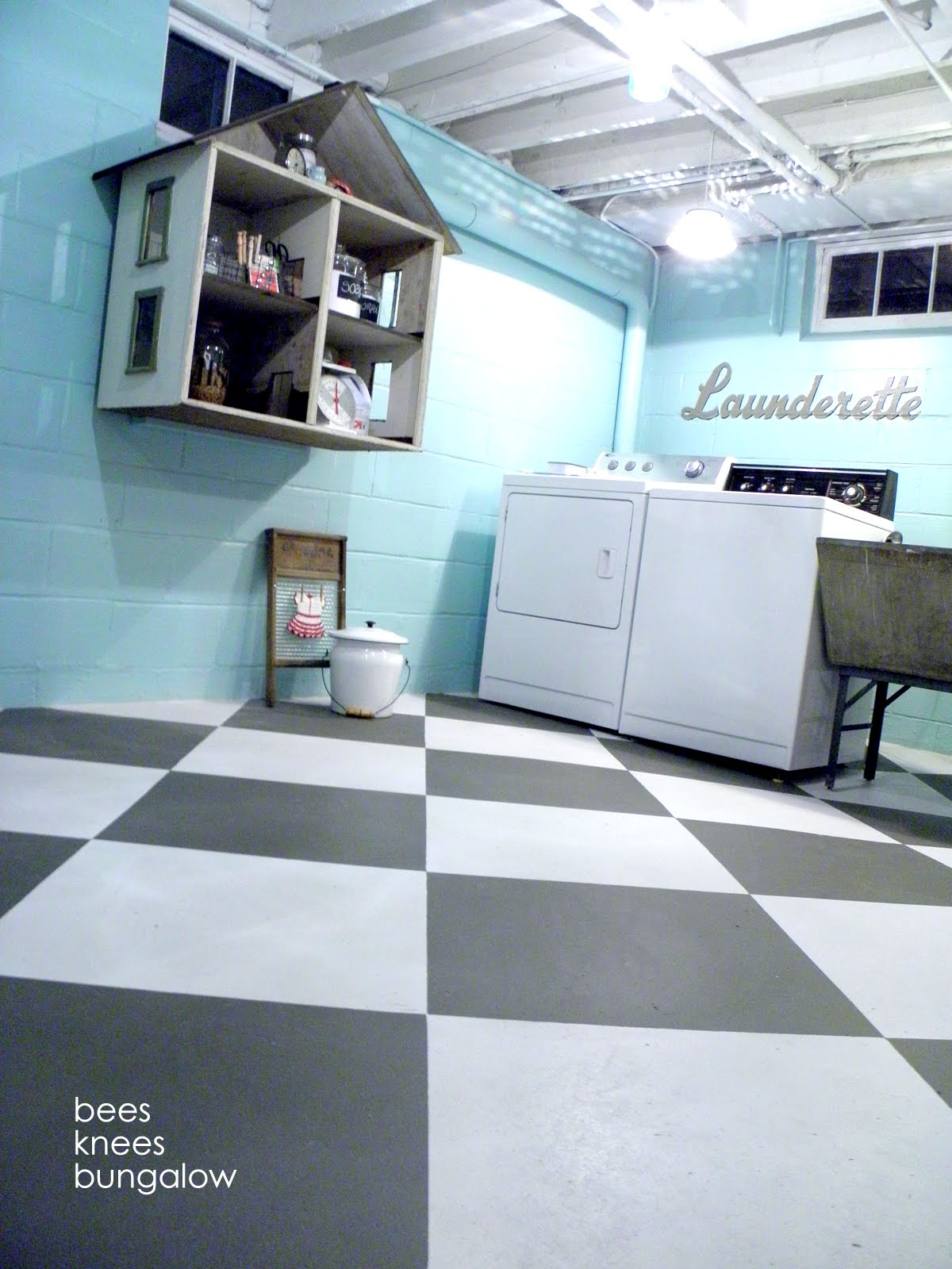 Paint Your Space & Unfinished Basement Laundry Room Ideas August 2018 - Toolversed