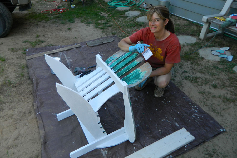 How to Restore and Repaint Adirondack Chairs