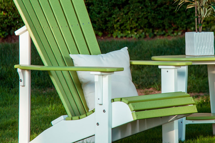 luxcraft poly deluxe adirondack chair