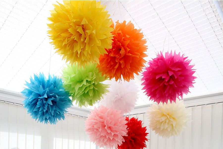 6 Easy Steps to Make Tissue Paper Pom Poms